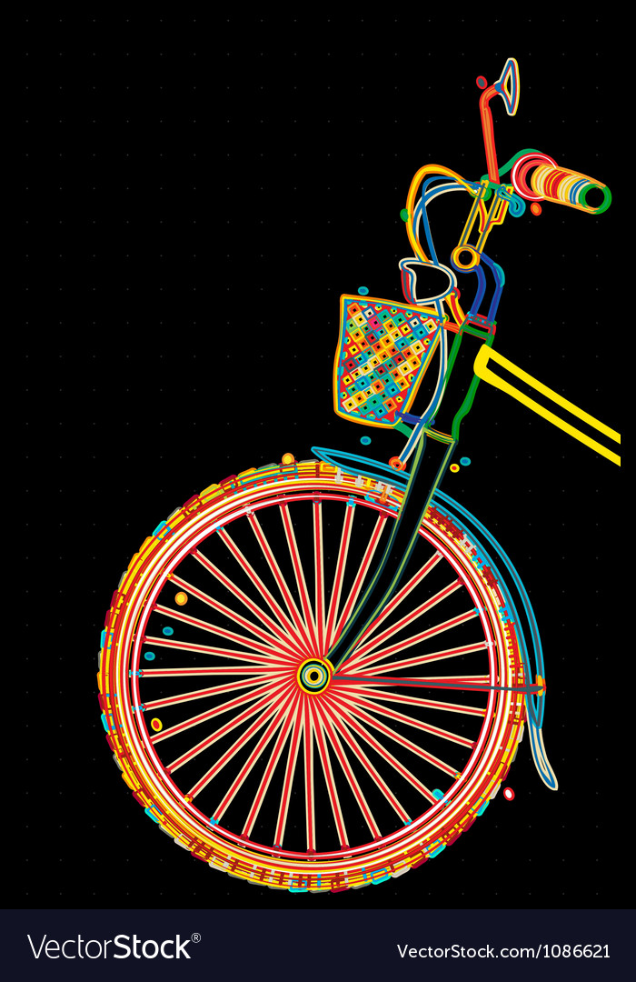 Stylish bicycle vector | Price: 1 Credit (USD $1)