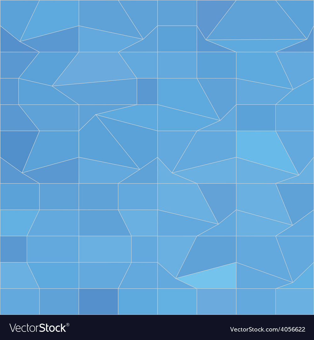 Blue mosaic abstract low polygon background vector | Price: 1 Credit (USD $1)