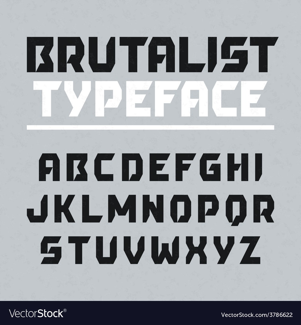 Brutalist typeface vector | Price: 1 Credit (USD $1)