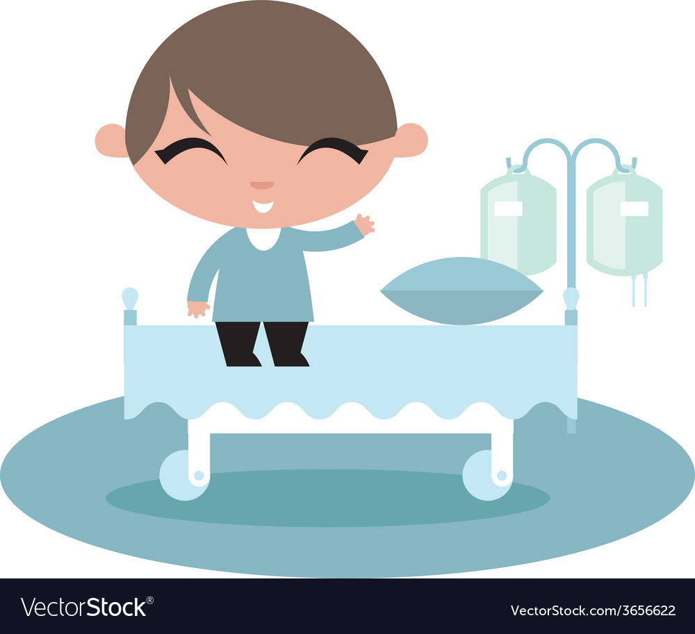 Child kid hospital vector | Price: 1 Credit (USD $1)