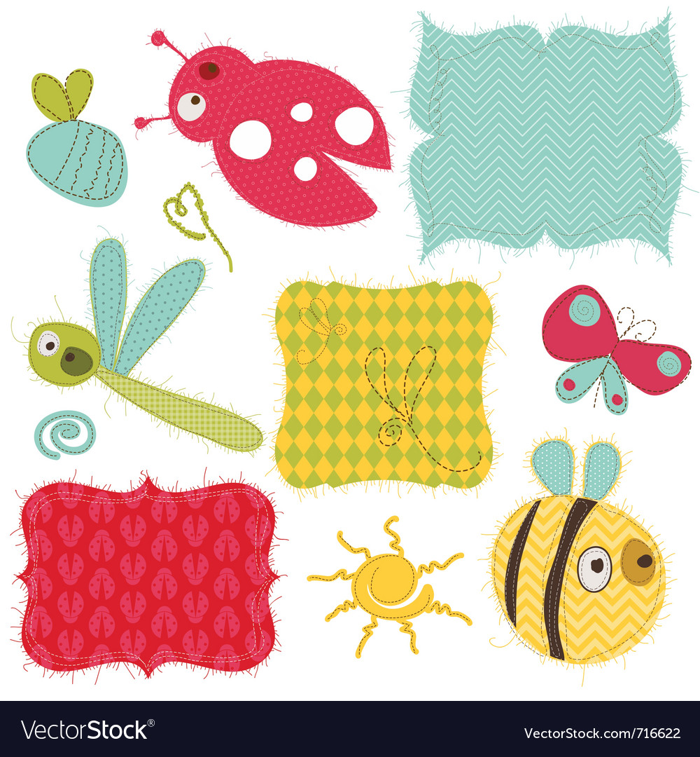 Design elements for baby scrapbook vector | Price: 1 Credit (USD $1)