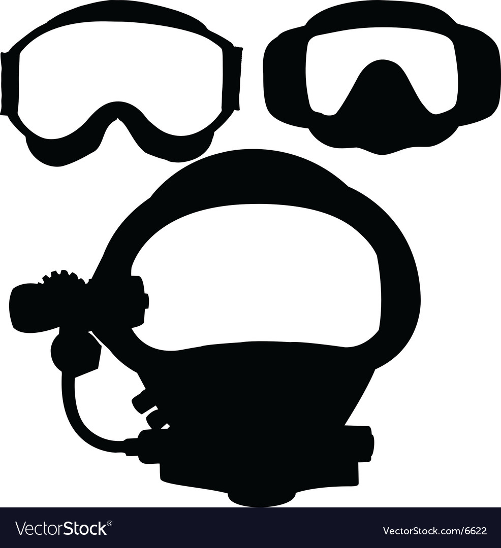 Dive masks vector | Price: 1 Credit (USD $1)