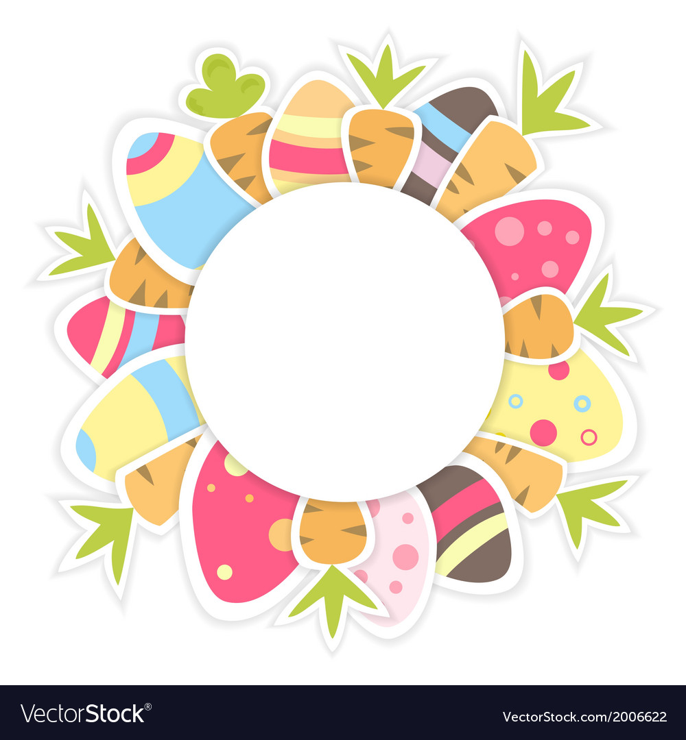 Easter carrots pattern on a white vector | Price: 1 Credit (USD $1)