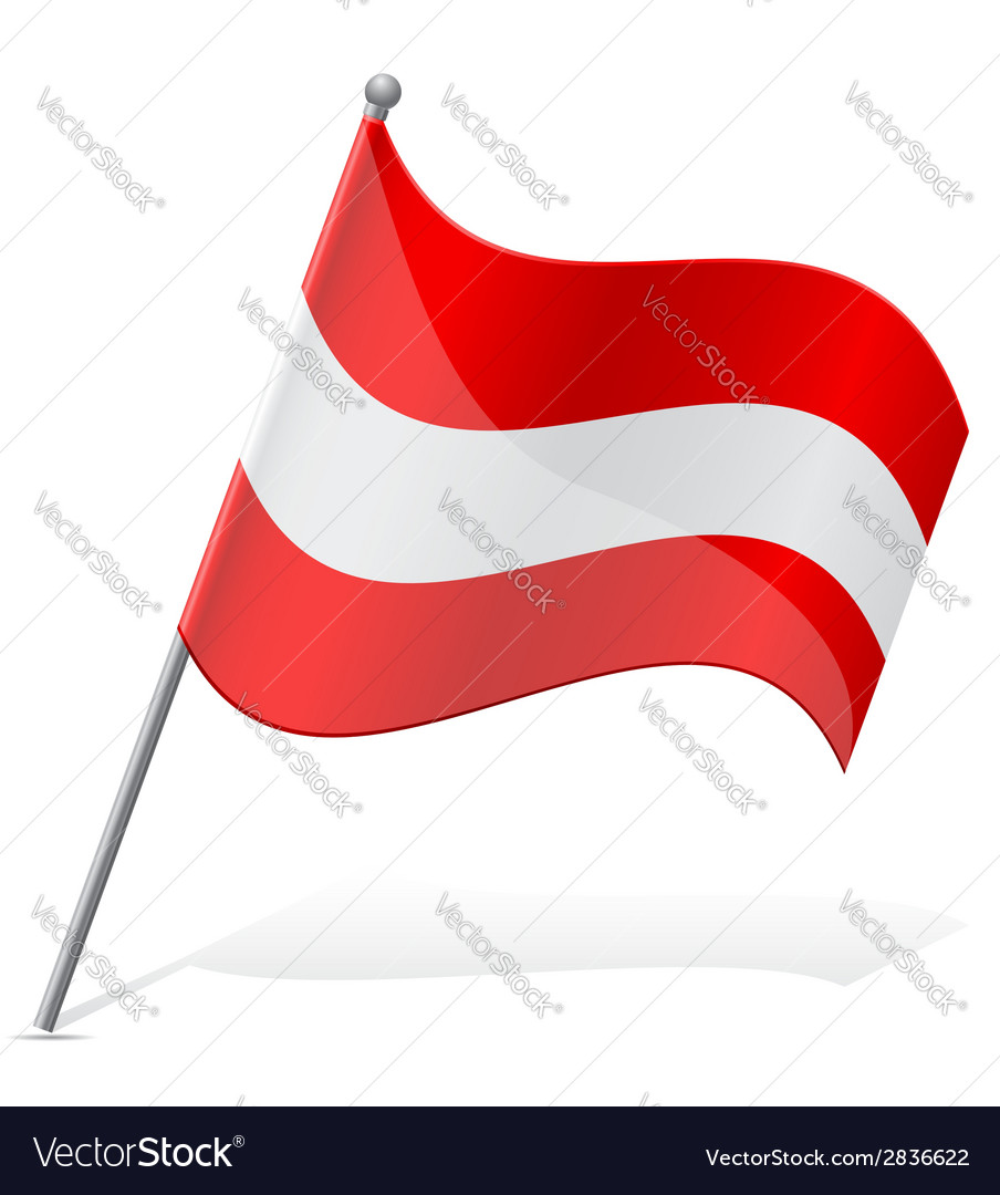 Flag of austria vector | Price: 1 Credit (USD $1)