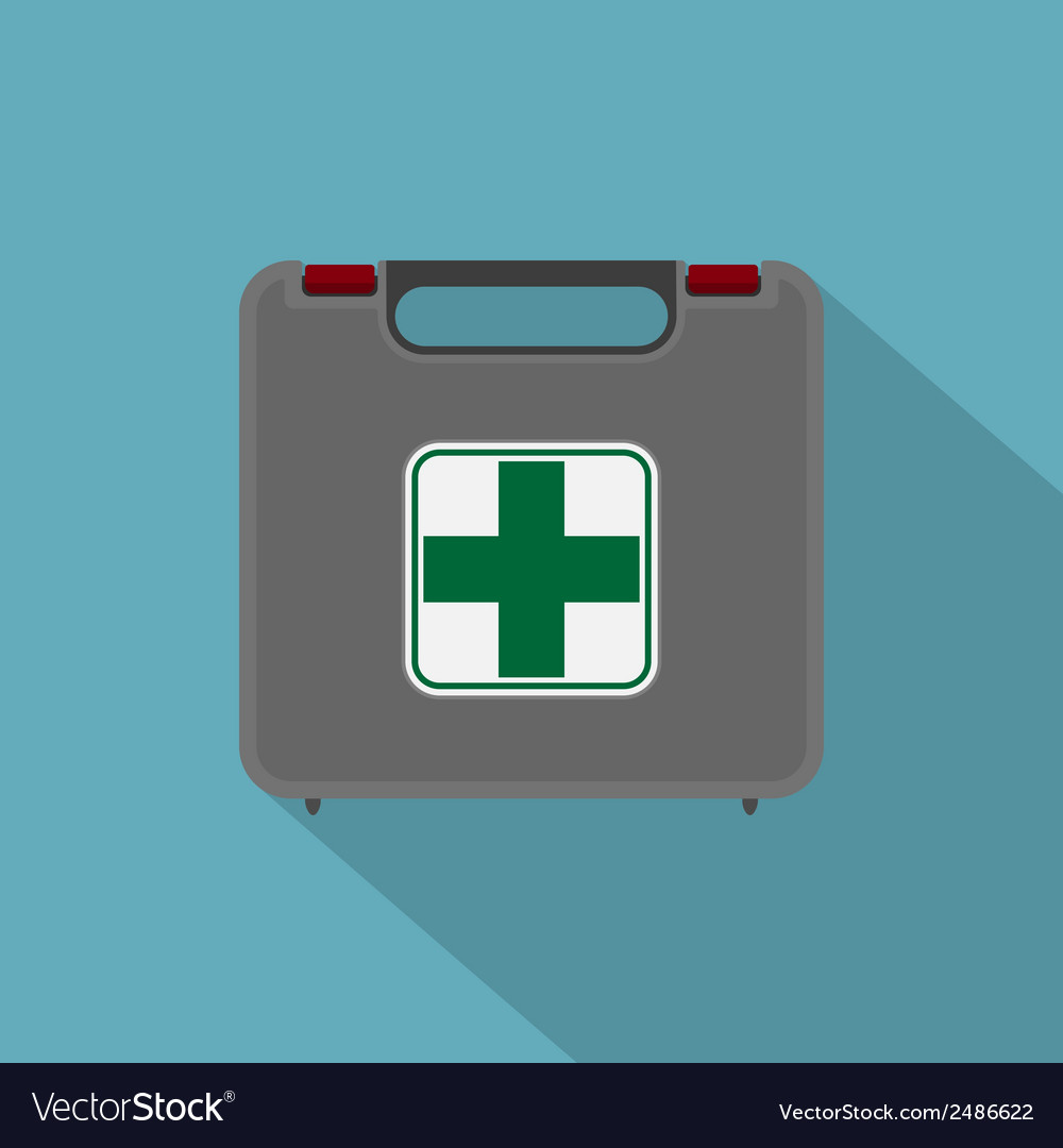 Flat first aid set vector | Price: 1 Credit (USD $1)