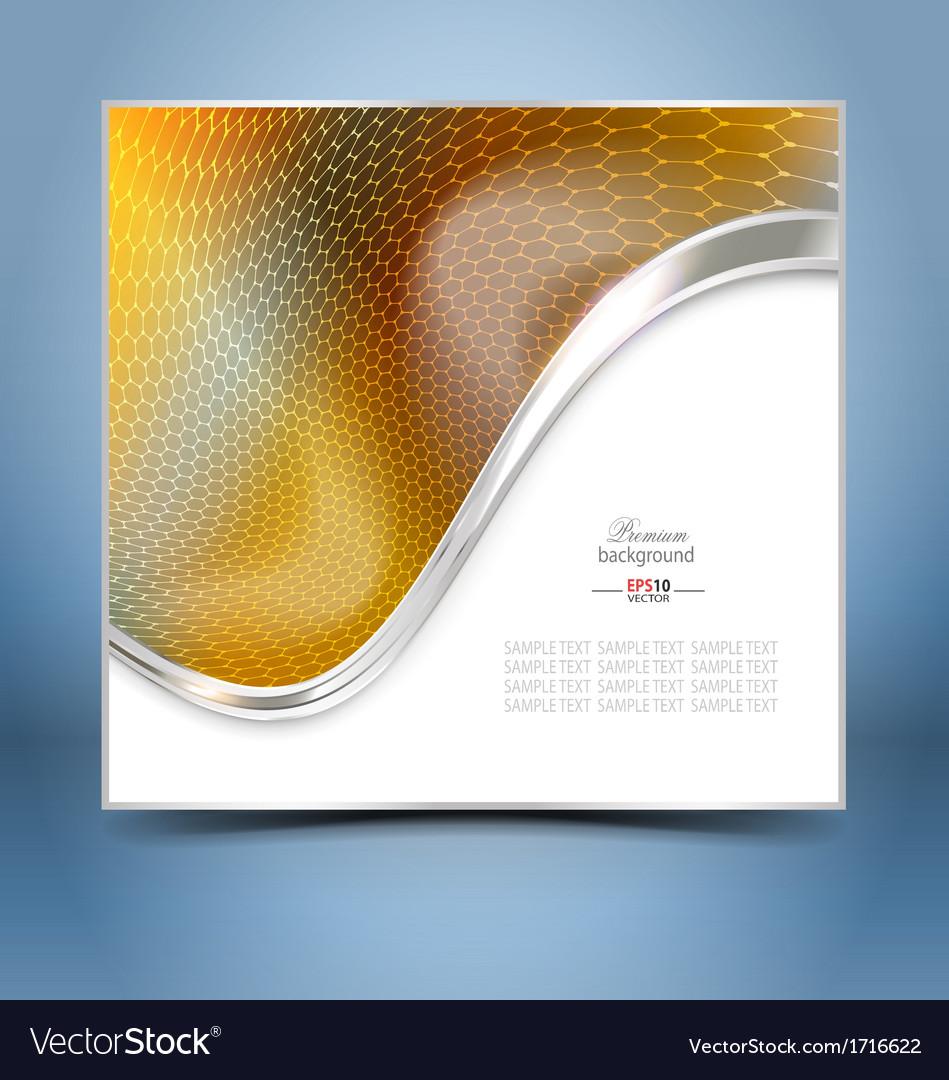Golden mosaic template vector | Price: 1 Credit (USD $1)