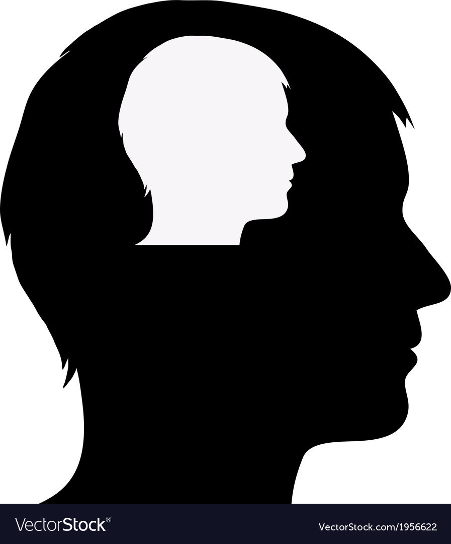 Male silhouette in male silhouette vector | Price: 1 Credit (USD $1)