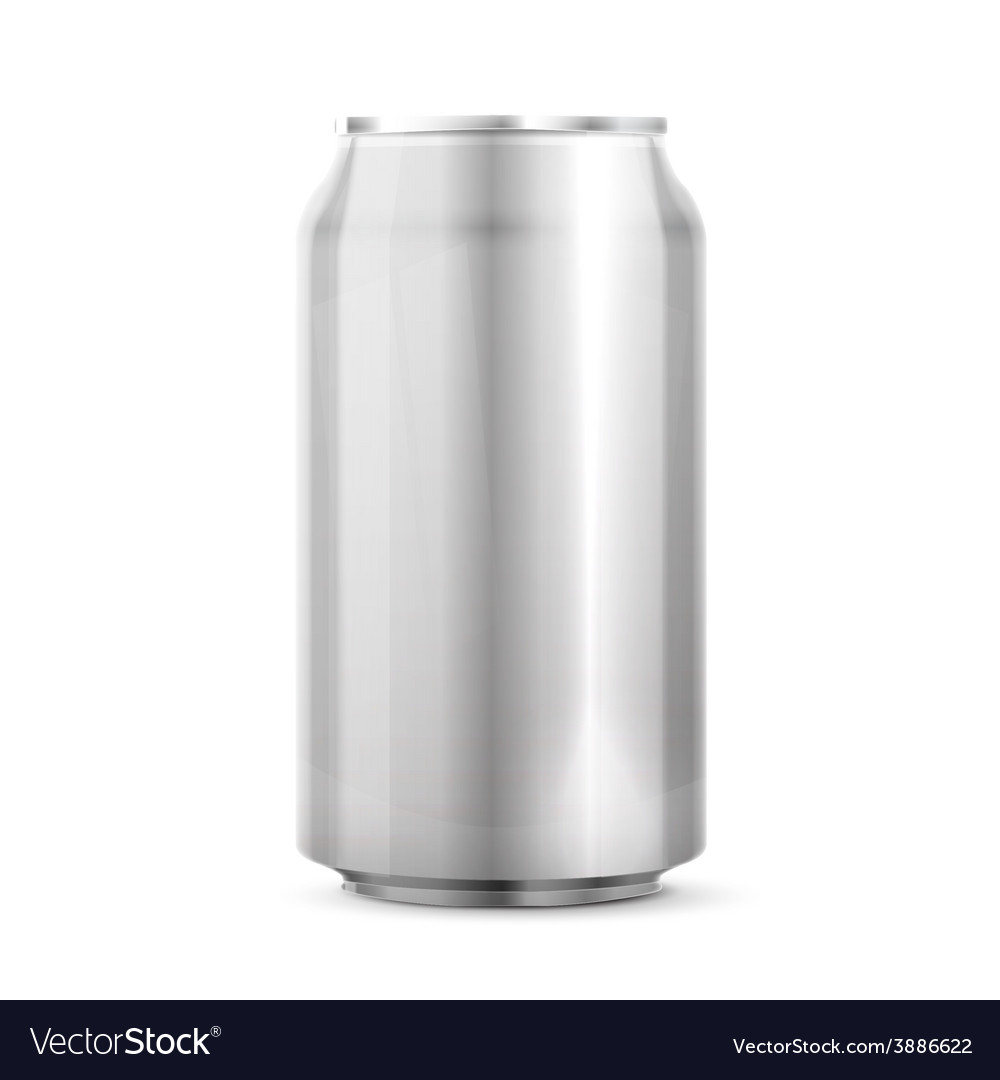 Metal aluminum beverage drink can vector | Price: 1 Credit (USD $1)