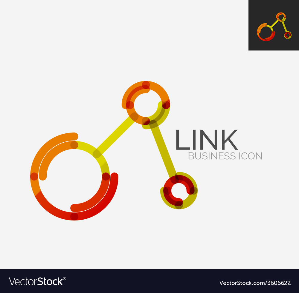 Minimal line design logo connection icon vector | Price: 1 Credit (USD $1)