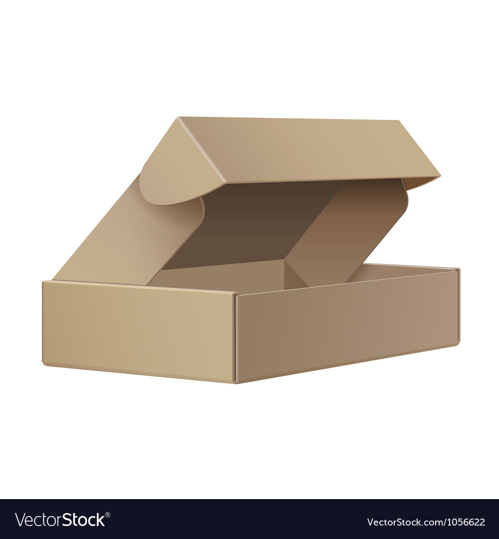 Package cardboard box opened vector | Price: 1 Credit (USD $1)