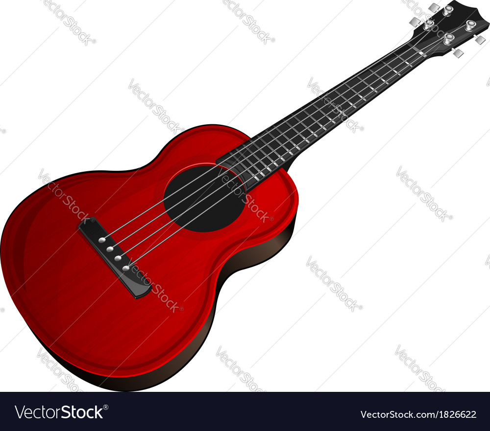 Red ukulele vector | Price: 1 Credit (USD $1)