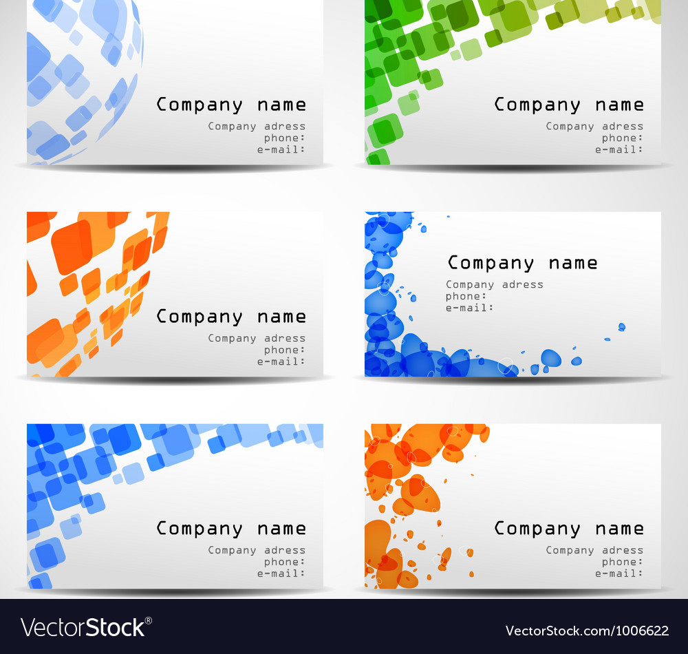 Set of six business cards vector | Price: 1 Credit (USD $1)