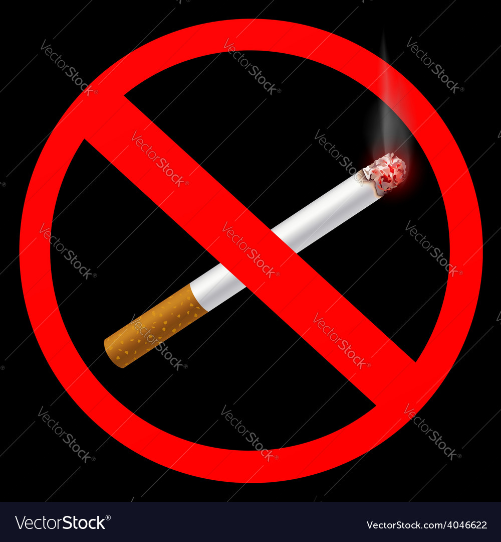 Sign prohibiting smoking vector | Price: 1 Credit (USD $1)
