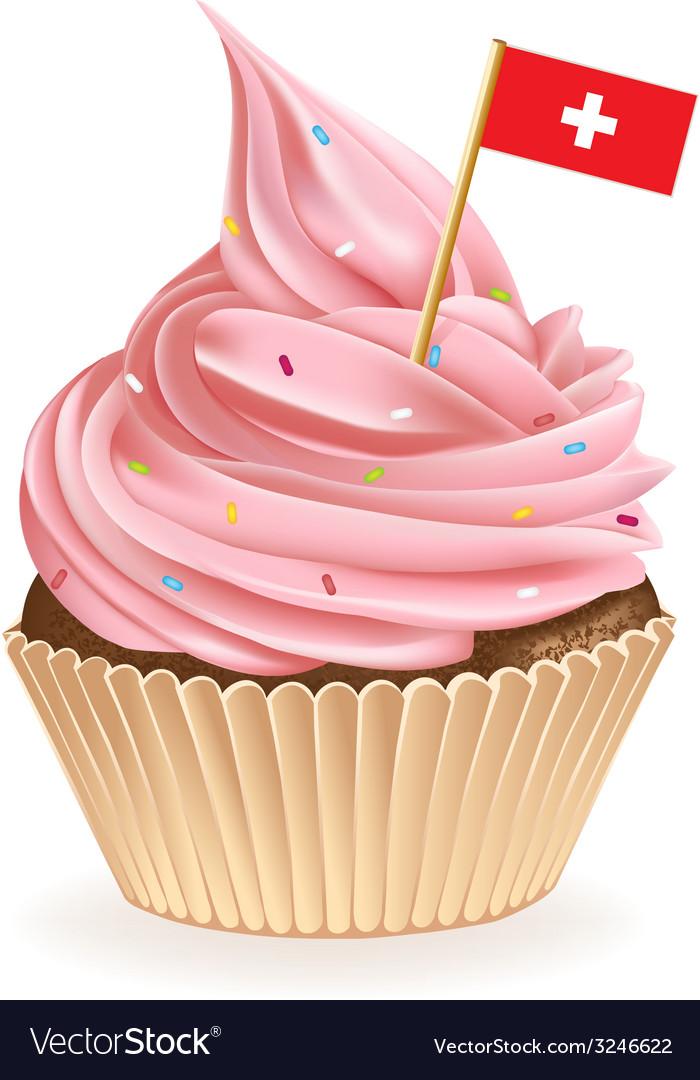 Swiss cupcake vector | Price: 1 Credit (USD $1)