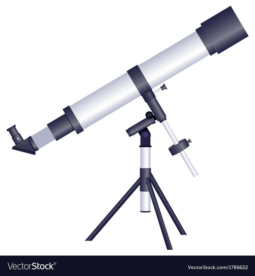 Telescope on a white background vector | Price: 1 Credit (USD $1)