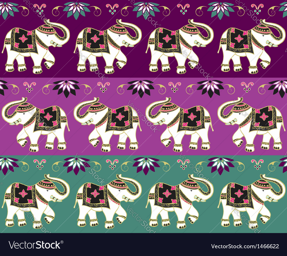 Traditional indian elephant background vector   Price: 1 Credit (USD $1)