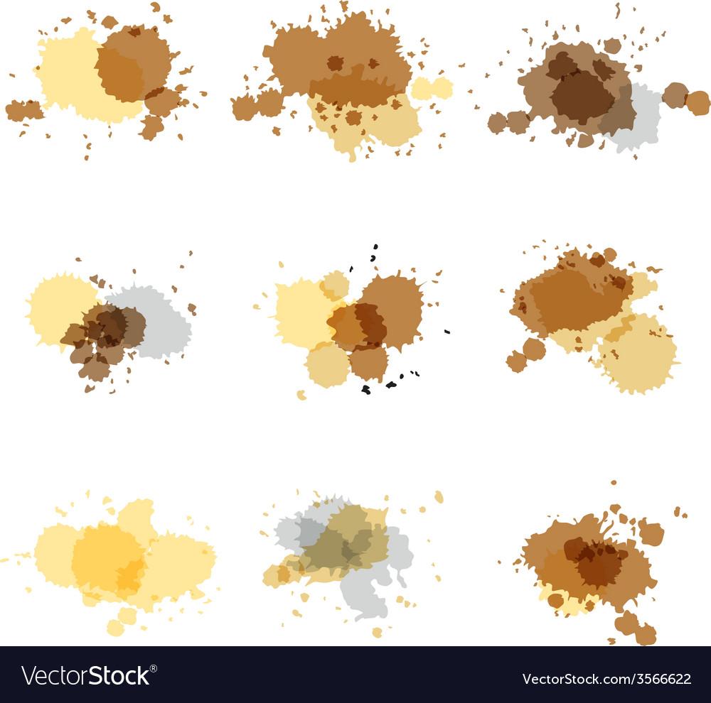 Watercolor hand painted circles set spot vector   Price: 1 Credit (USD $1)