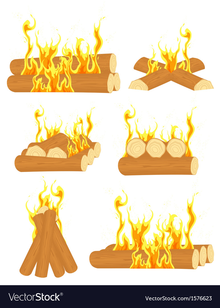 Bonfire set vector | Price: 1 Credit (USD $1)