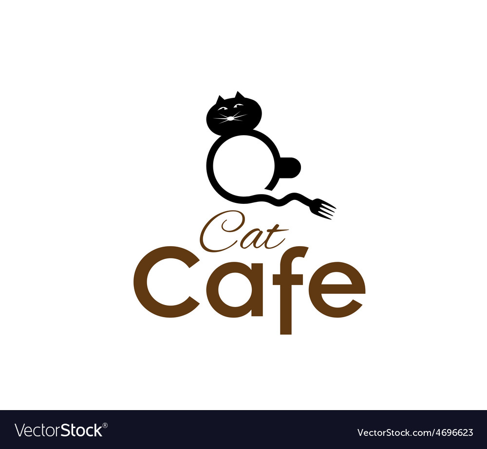 Cat cafe concept vector | Price: 1 Credit (USD $1)