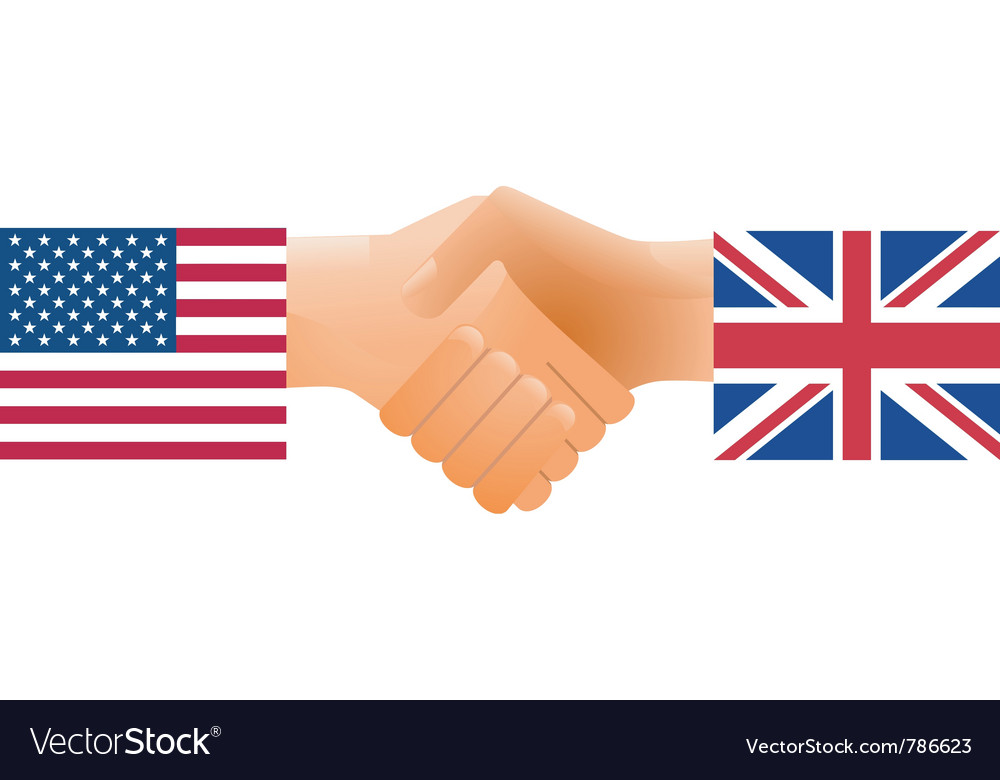 Countries handshake vector | Price: 1 Credit (USD $1)