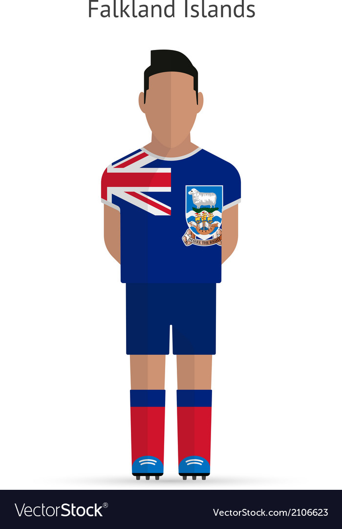 Falkland islands football player soccer uniform vector | Price: 1 Credit (USD $1)