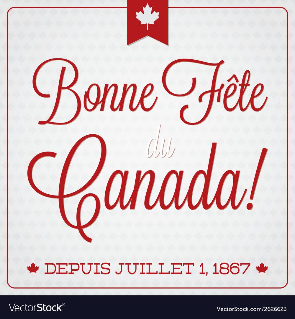 Happy canada day retro card in format vector   Price: 1 Credit (USD $1)