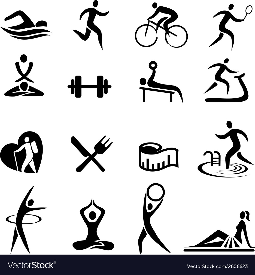 Healthy lifestyle sport icons vector | Price: 1 Credit (USD $1)