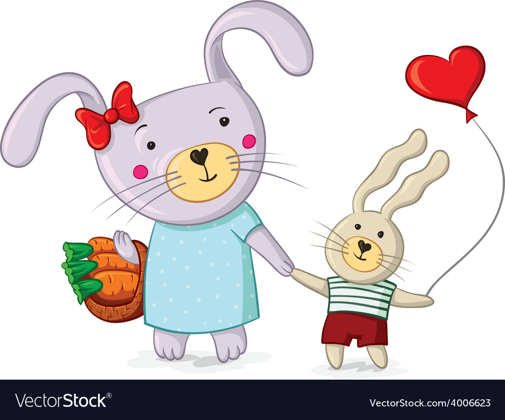 Rabbits vector | Price: 1 Credit (USD $1)