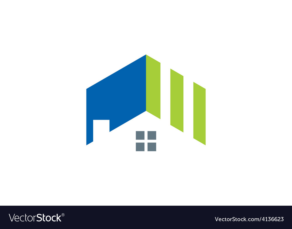 Roof home realty abstract logo vector | Price: 1 Credit (USD $1)