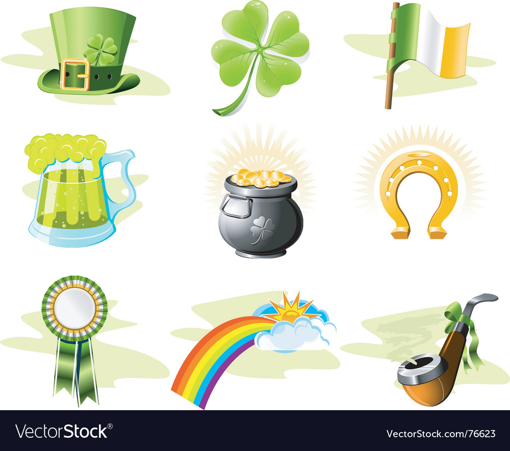 St. patrick's day icon set vector | Price: 3 Credit (USD $3)