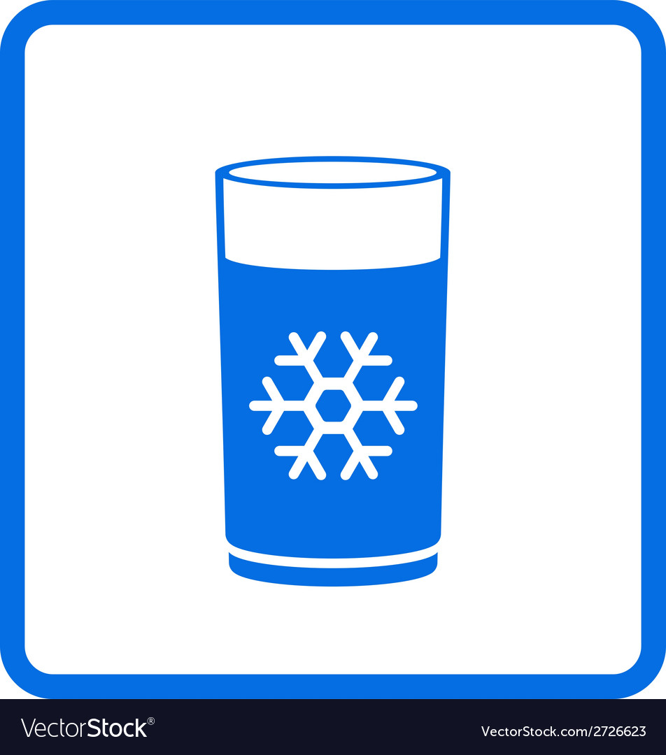 Water glass with snowflake vector | Price: 1 Credit (USD $1)