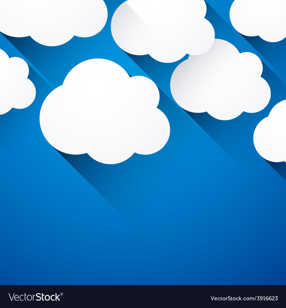 White paper flat clouds vector | Price: 1 Credit (USD $1)