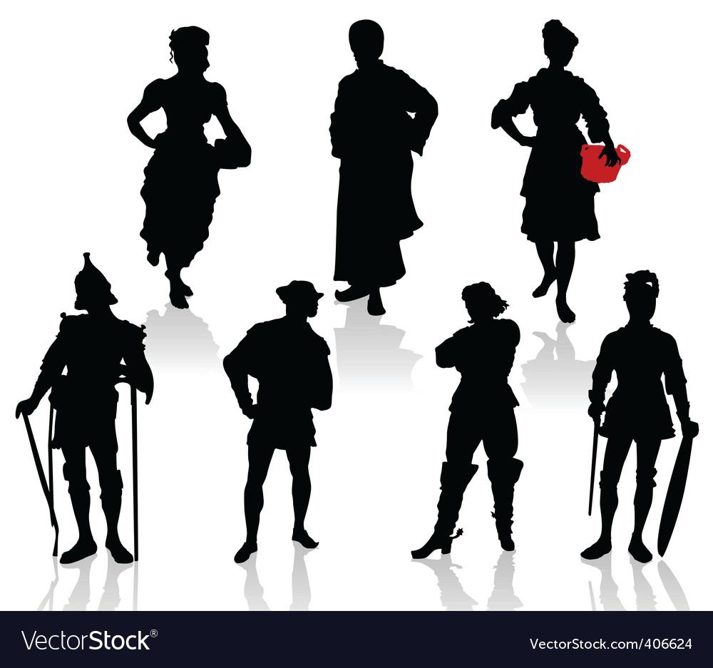 Actors in costumes  3 vector | Price: 1 Credit (USD $1)