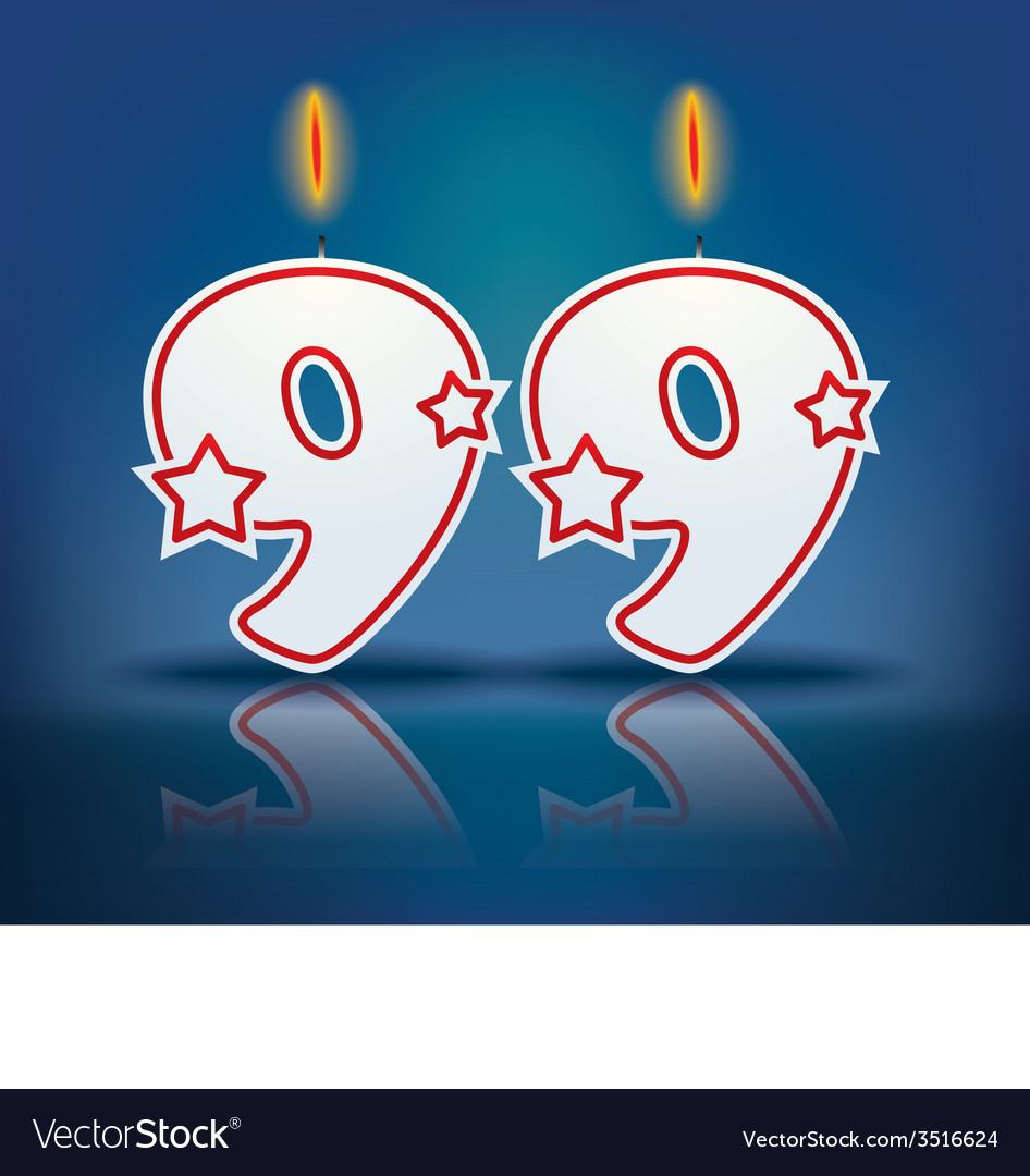 Birthday candle number 99 vector | Price: 1 Credit (USD $1)