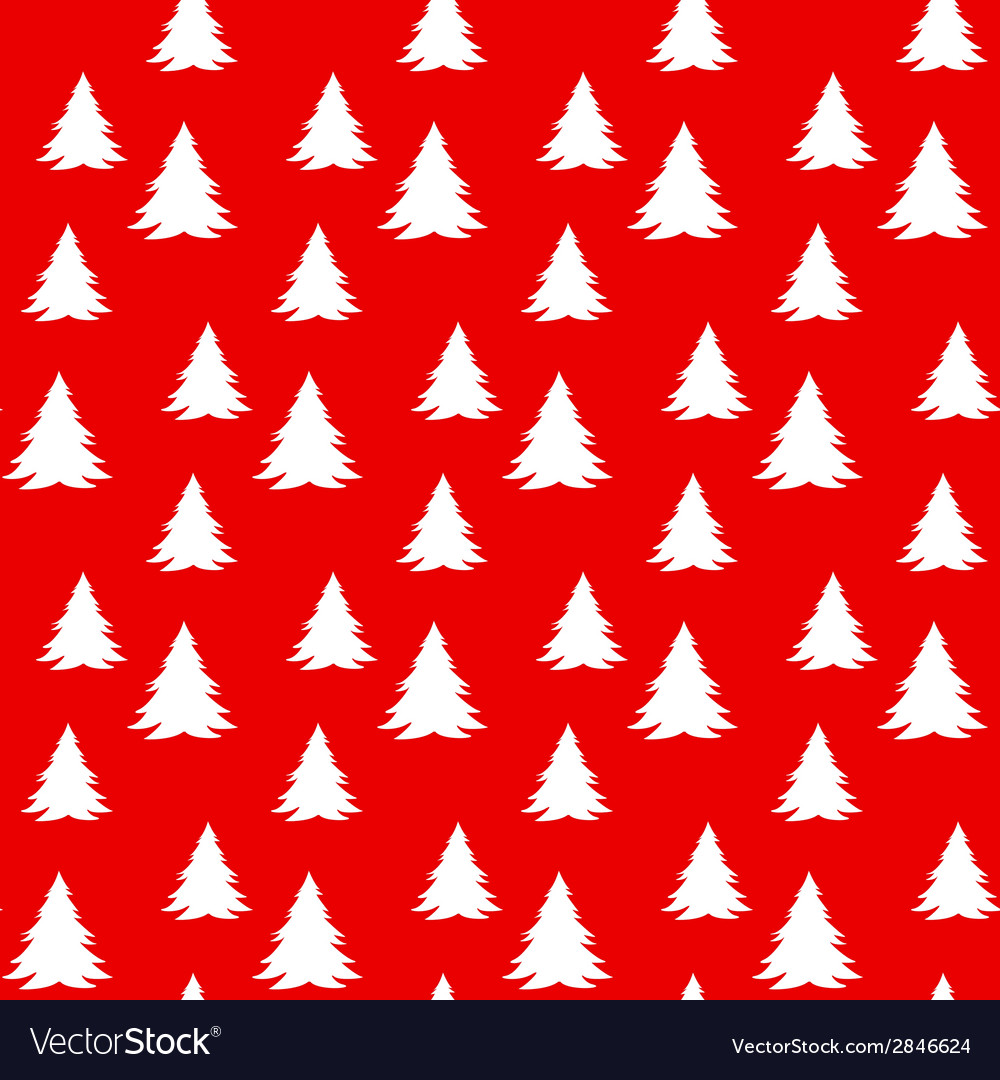 Christmas pattern with trees vector | Price: 1 Credit (USD $1)