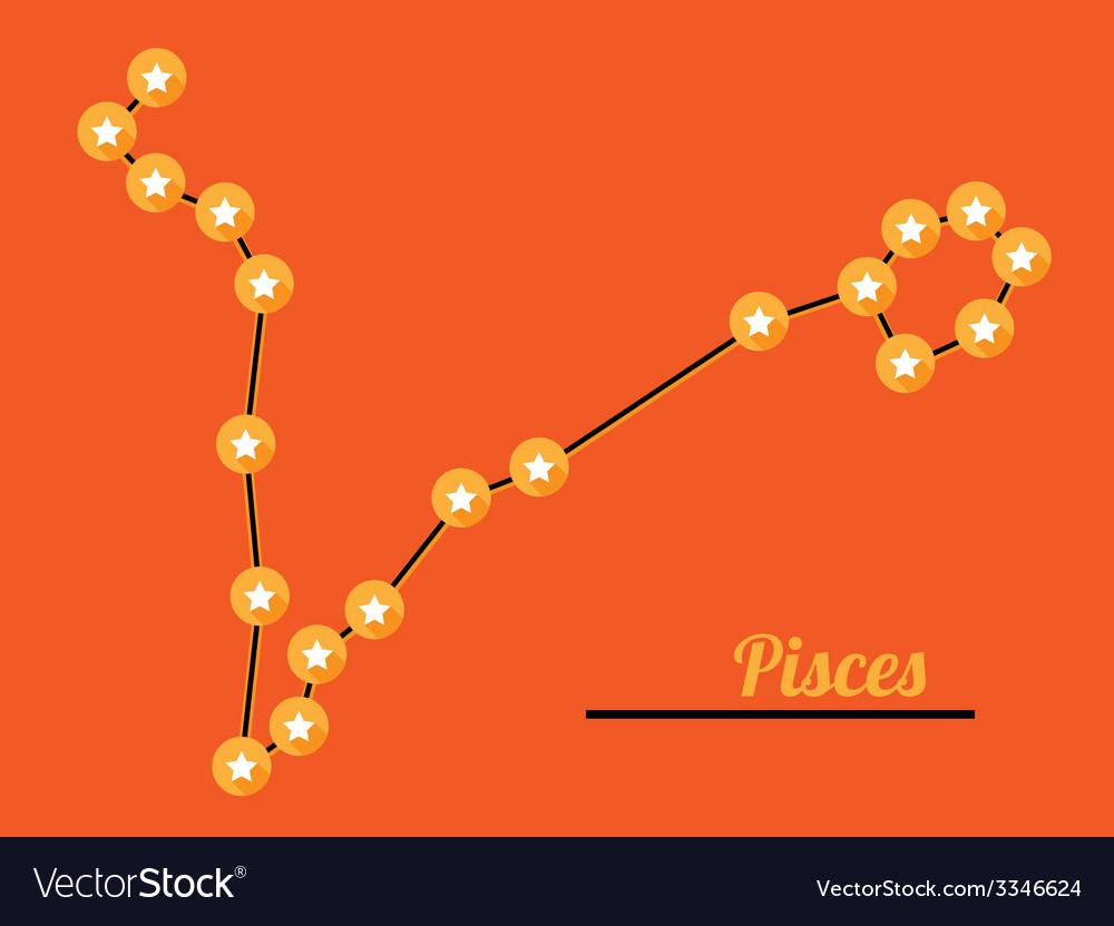 Constellation pisces vector | Price: 1 Credit (USD $1)