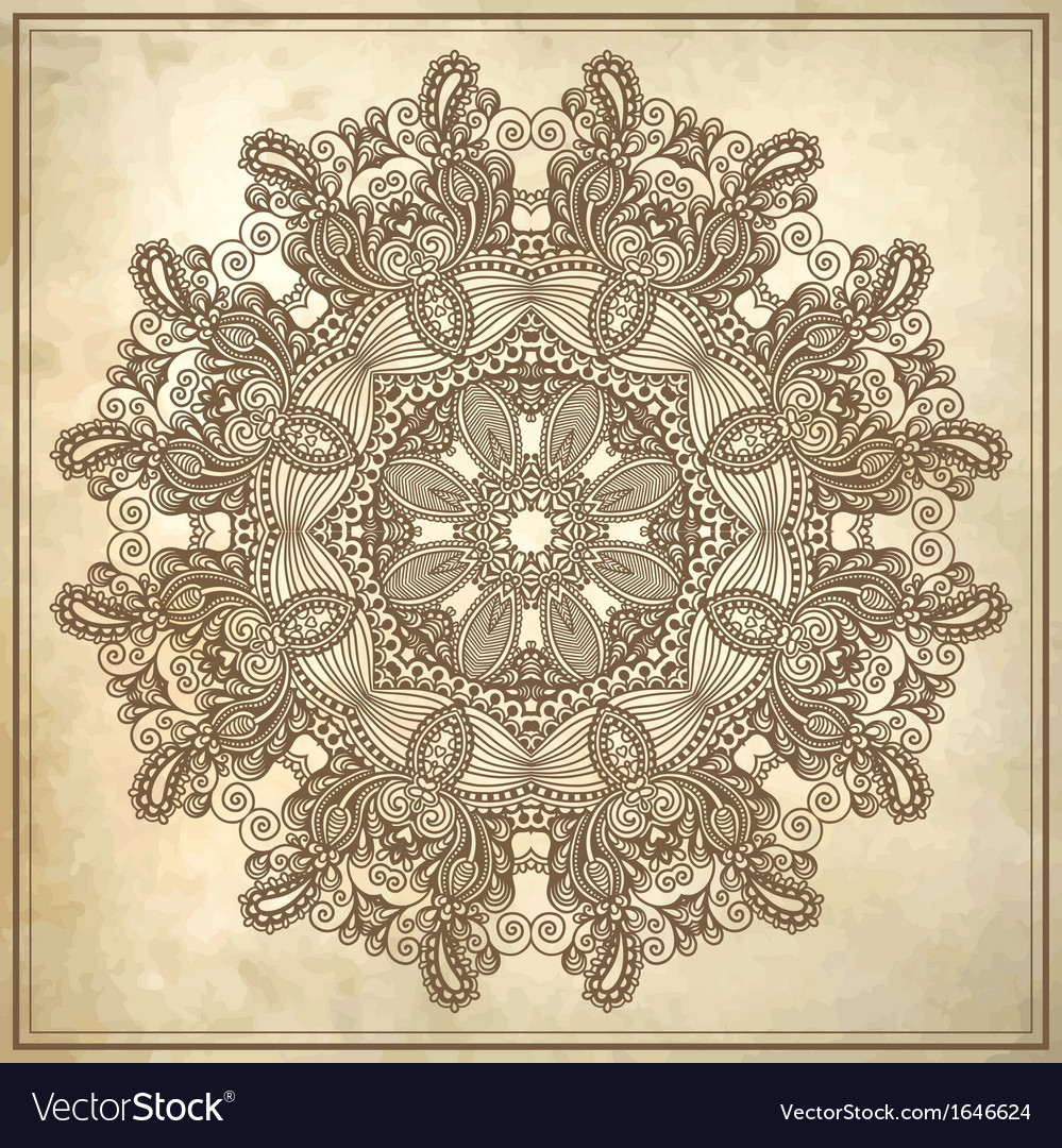 Grunge background with lace ornament vector | Price: 1 Credit (USD $1)