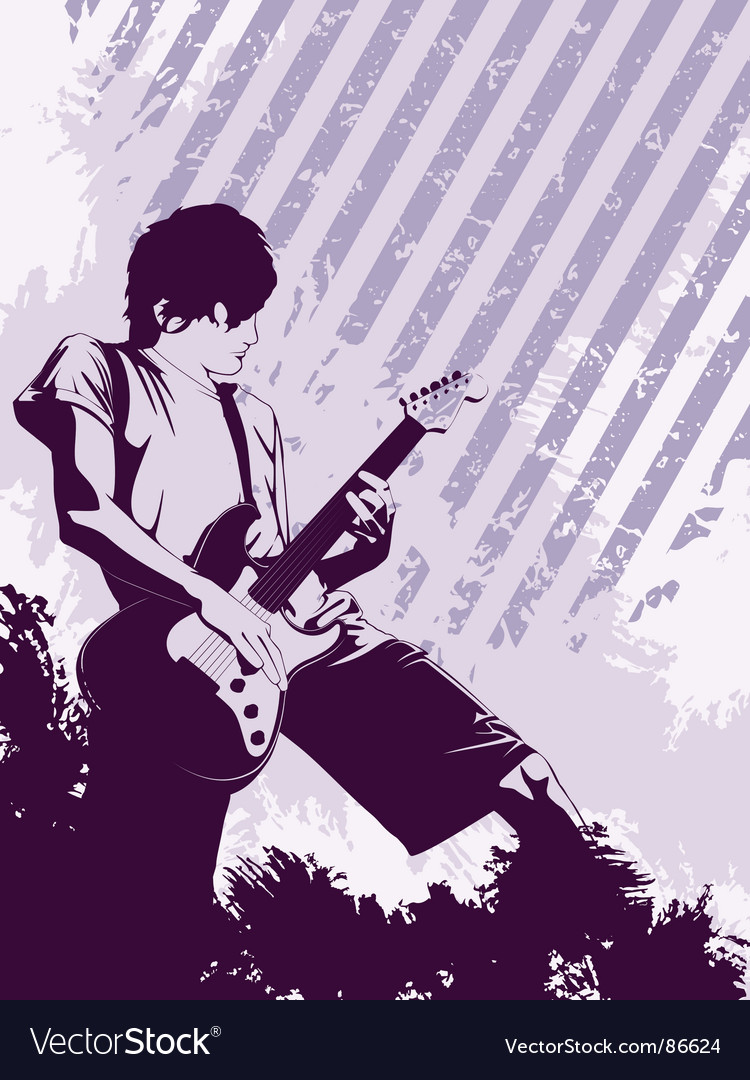 Grunge musician vector | Price: 1 Credit (USD $1)