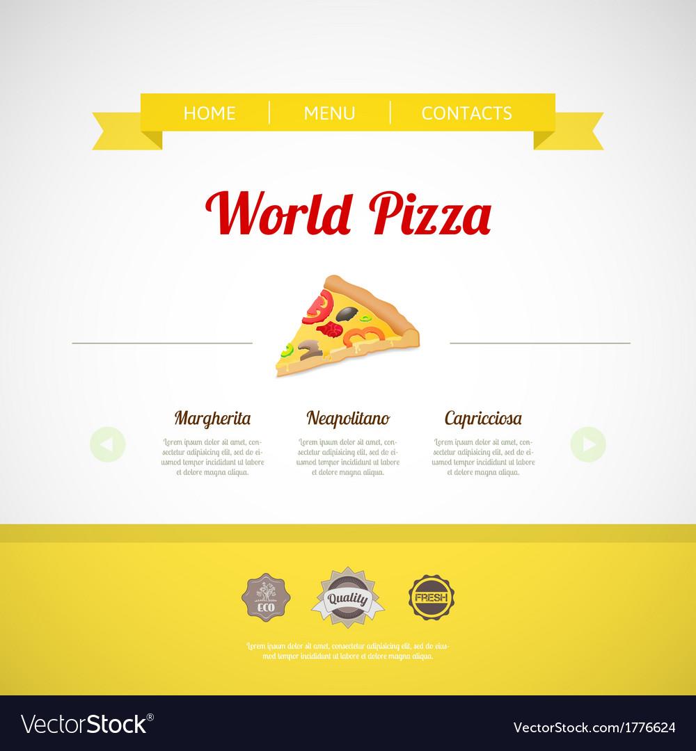 Pizza menu template vector | Price: 1 Credit (USD $1)