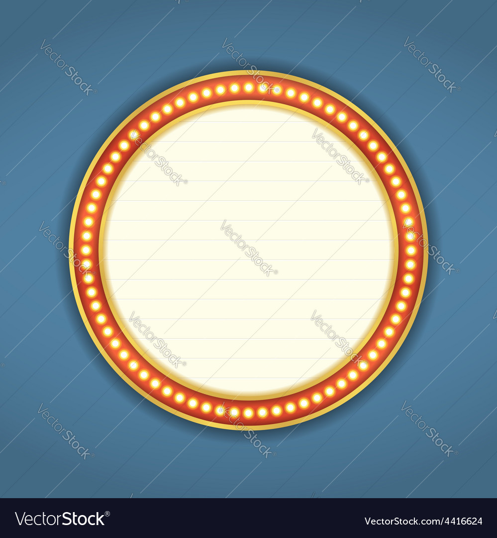 Round retro banner vector | Price: 1 Credit (USD $1)