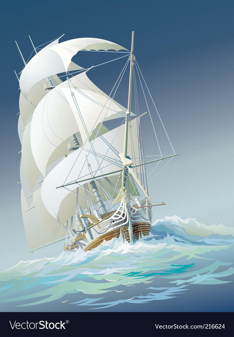 Sailing ship vector | Price: 5 Credit (USD $5)