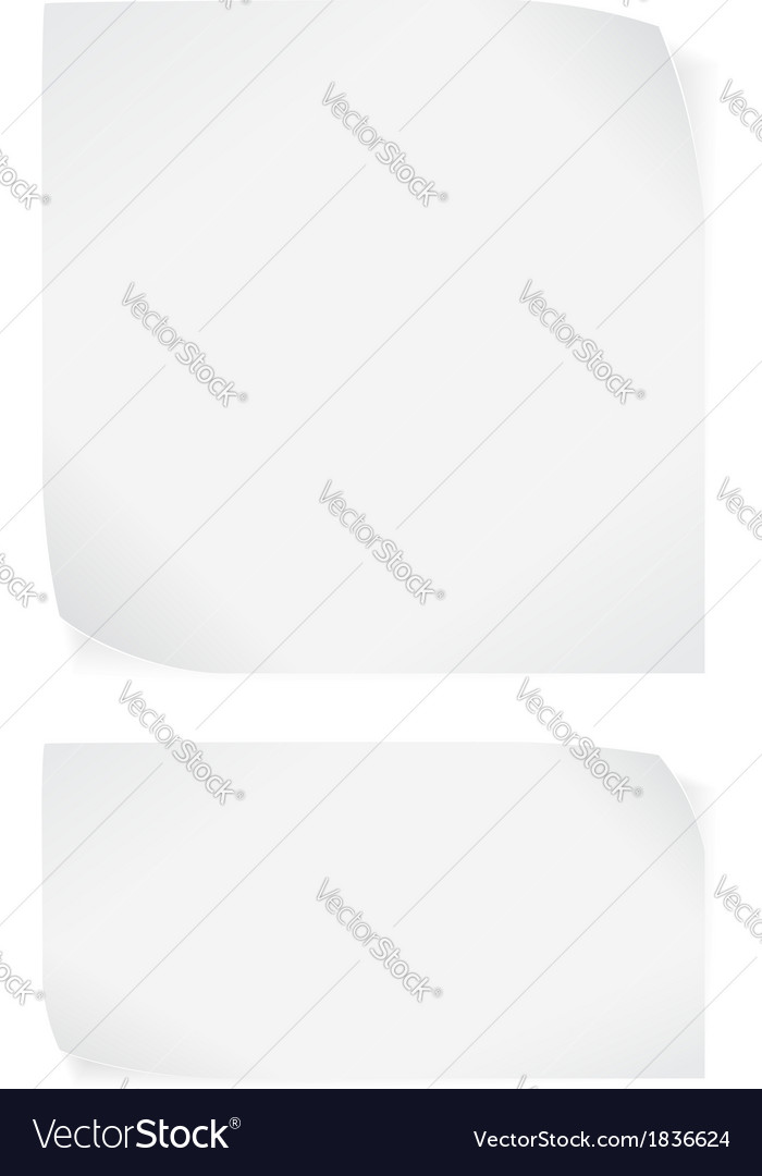 White paper stickers isolated on white background vector | Price: 1 Credit (USD $1)
