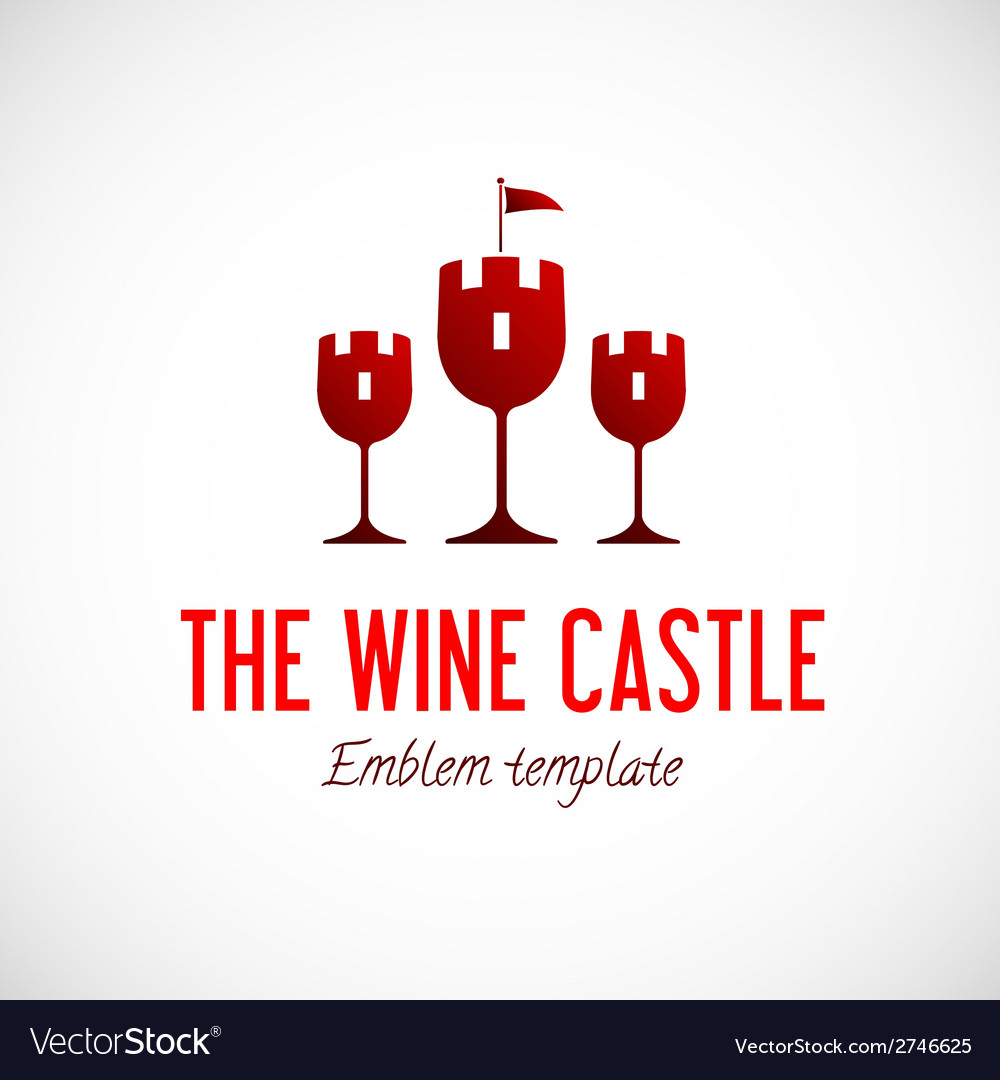 Abstract wine glass castle concept symbol icon vector | Price: 1 Credit (USD $1)