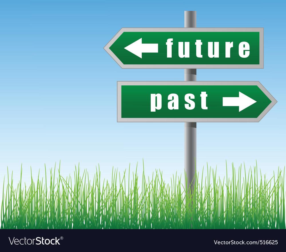 Arrows future past vector | Price: 1 Credit (USD $1)
