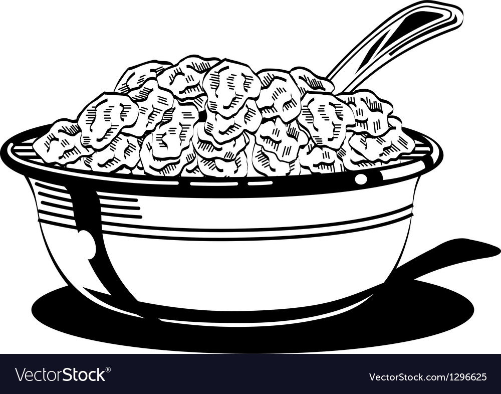 Cereal bowl vector | Price: 1 Credit (USD $1)