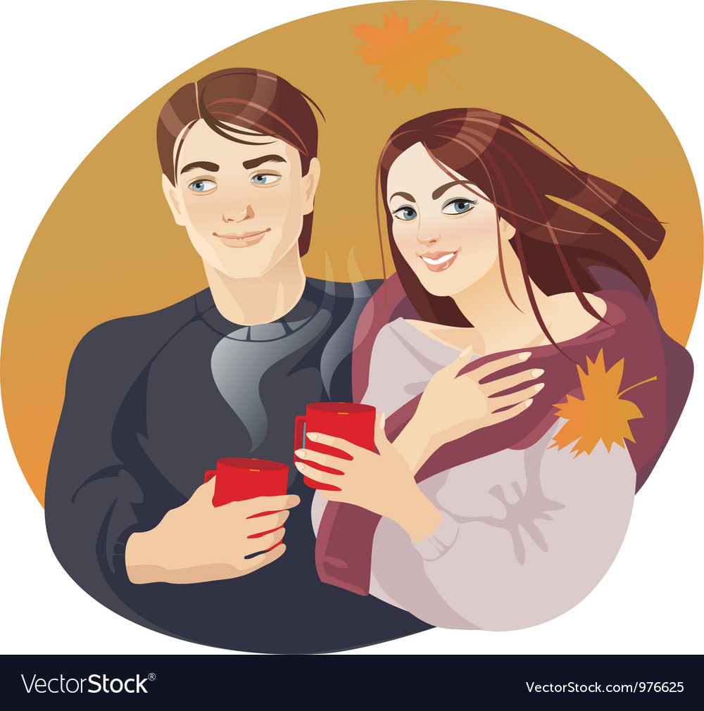 Coffee couples vector | Price: 3 Credit (USD $3)