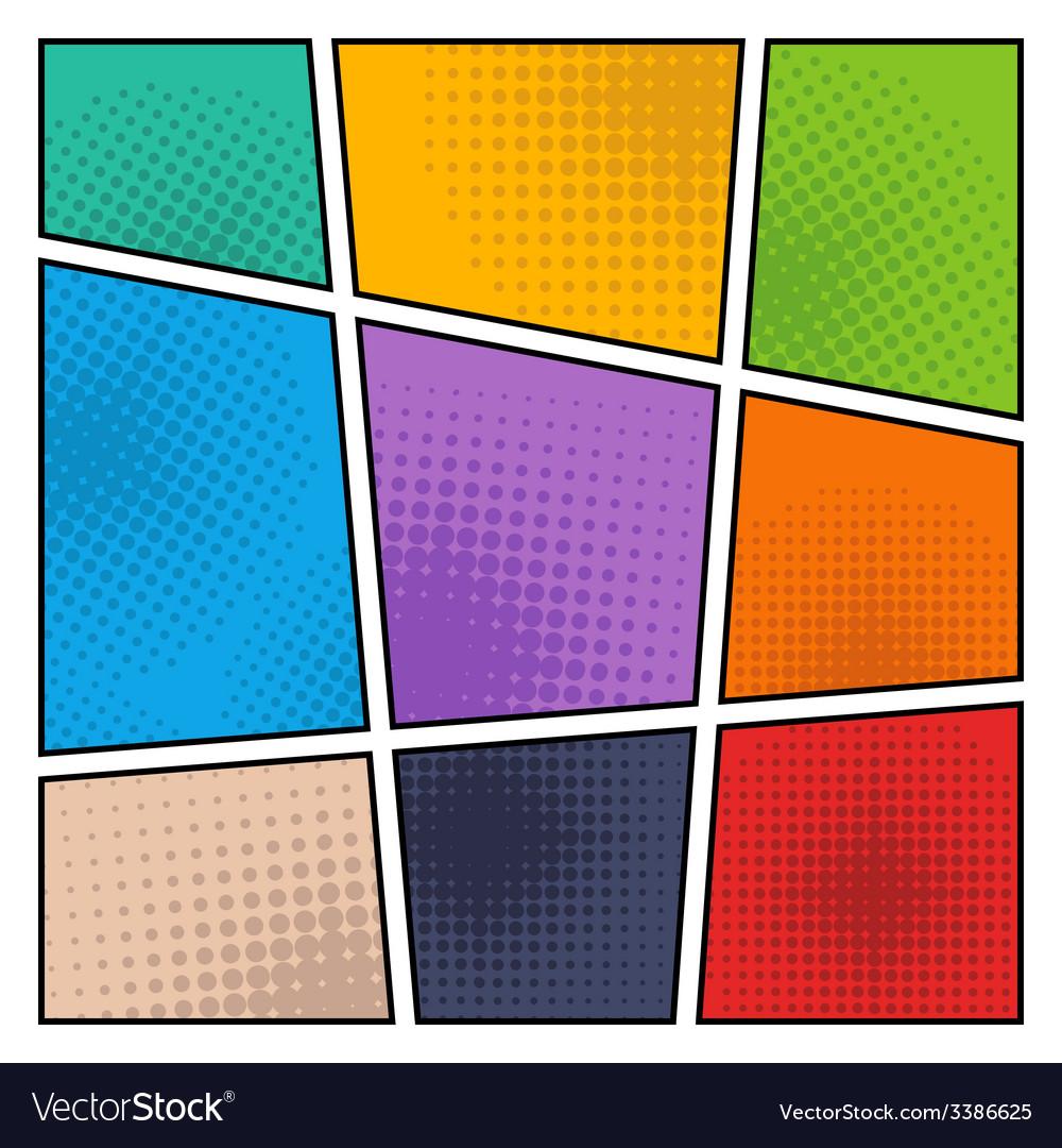 Comic halftone background vector | Price: 1 Credit (USD $1)