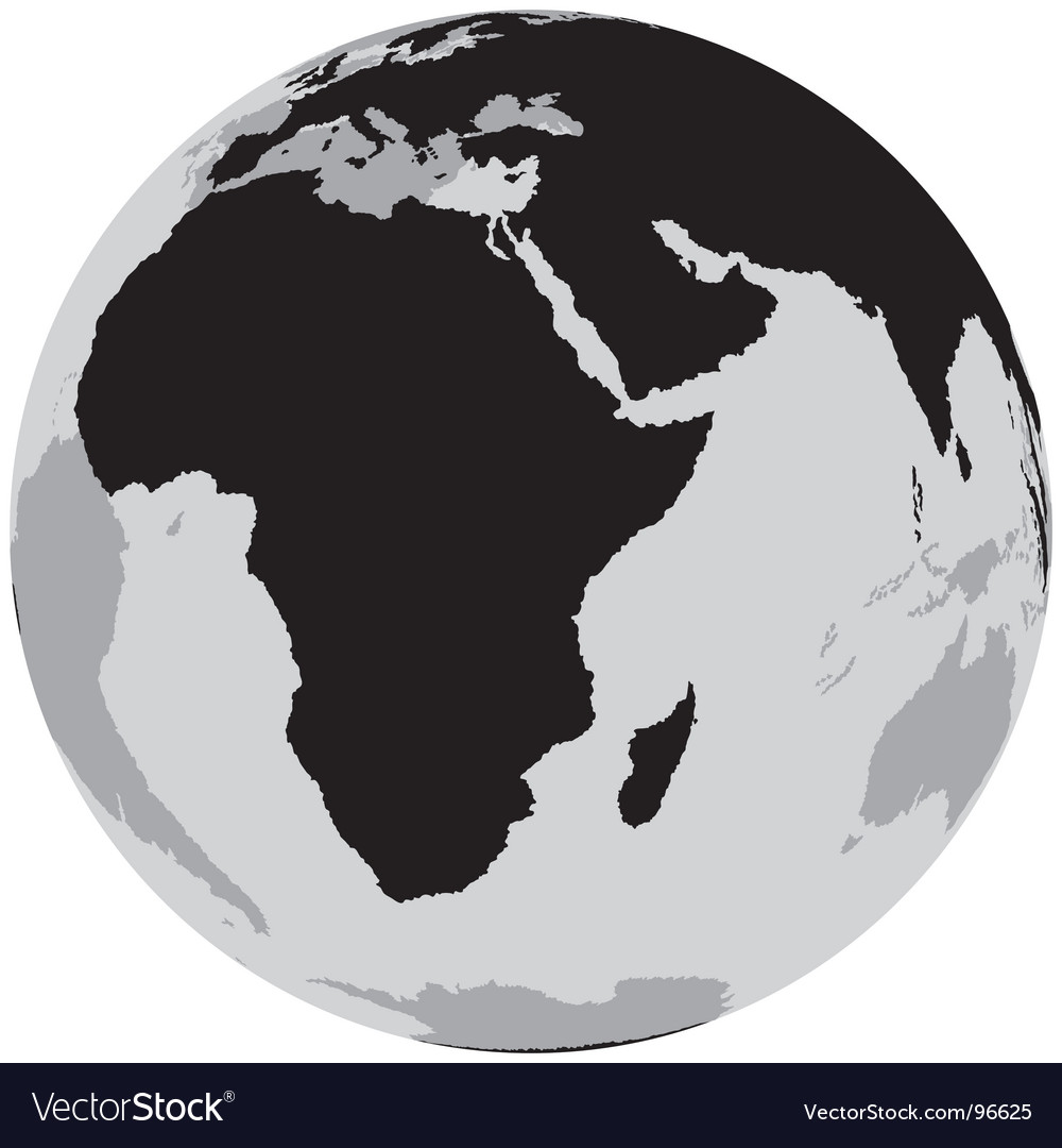 Earth africa vector | Price: 1 Credit (USD $1)