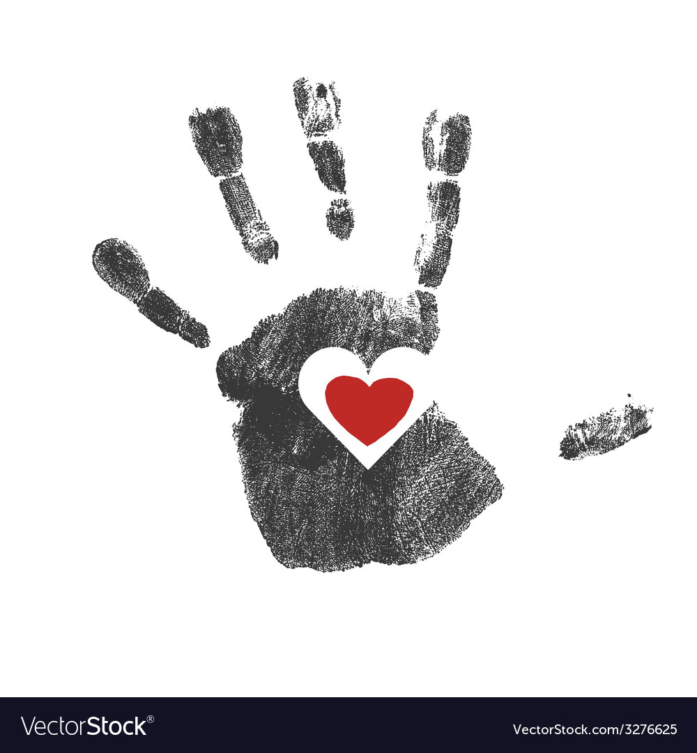 Heart in hand vector | Price: 1 Credit (USD $1)