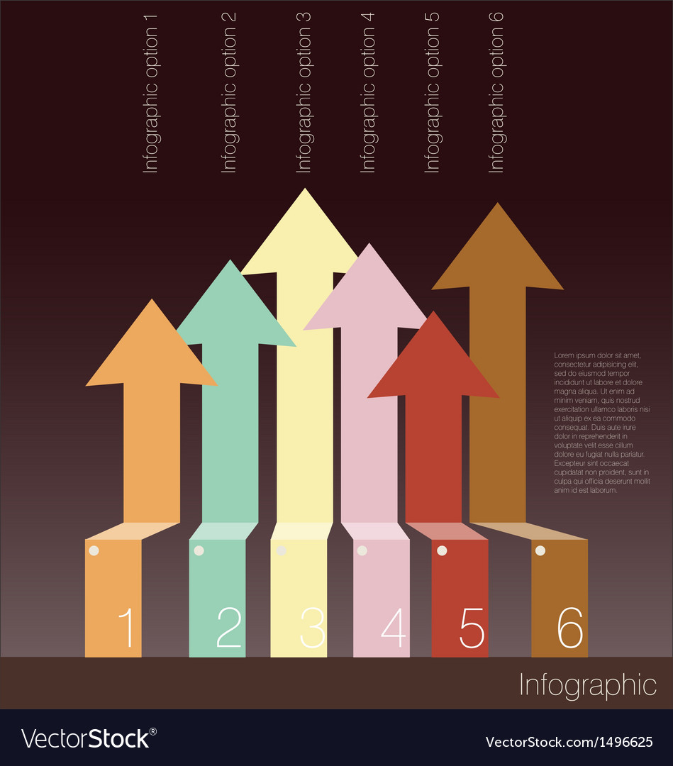 Infographics options banner with arrows vector | Price: 1 Credit (USD $1)
